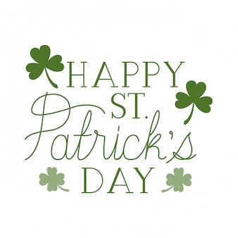 Happy st patrick`s day label isolated icon