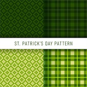 Happy st. patrick's day pattern set