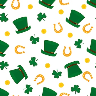 Happy st.patrick s day seamless pattern illustration