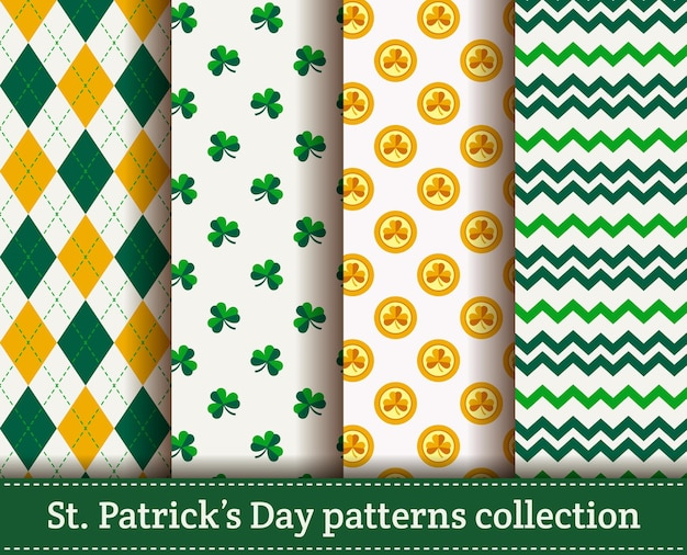 Happy st. patrick's day! seamless pattern