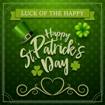 Happy st. patrick's day typography