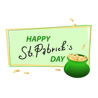 Happy st. patrick's day vector illustration.