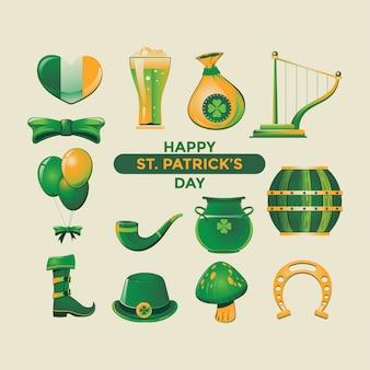 Happy st patrick's day. vector symbols