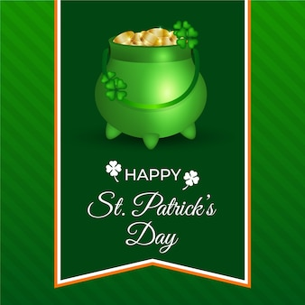 Happy st. patrick's day with realistic coins