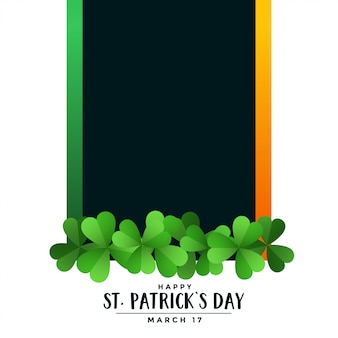 Happy st patricks day background with text space