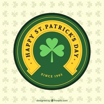 Happy st patricks day label
