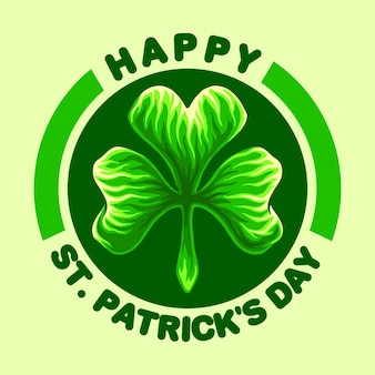 Happy st patricks day logo illustrations