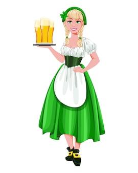 Happy st patricks day. young girl leprechaun