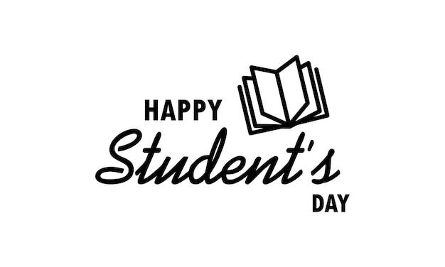 С днем студента. значок международного студенческого дня. концепция образования. учеба в университете или колледже. вектор на изолированном белом фоне. eps 10.
