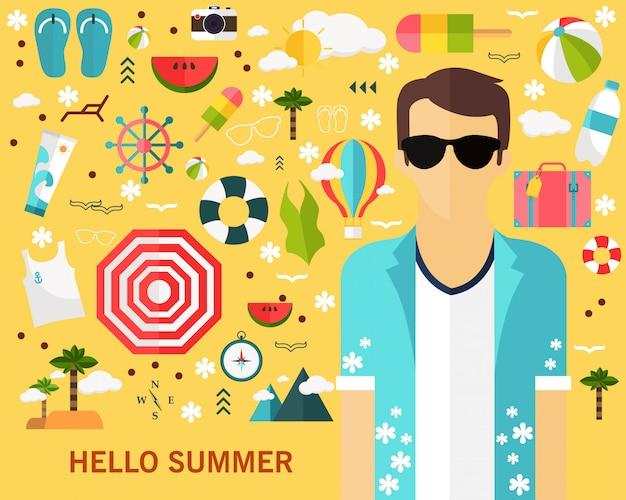 Happy summer concept background