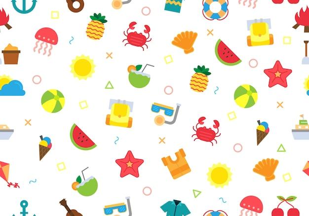 행복 한 여름 날 완벽 한 패턴