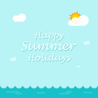 Happy summer holiday background