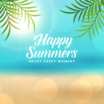 Happy summer holidays beach background