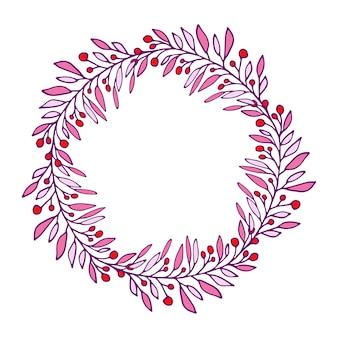 Happy summer wreath. vector illustration