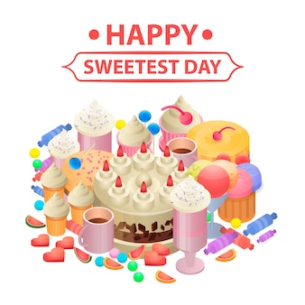 Happy sweetest day concept background