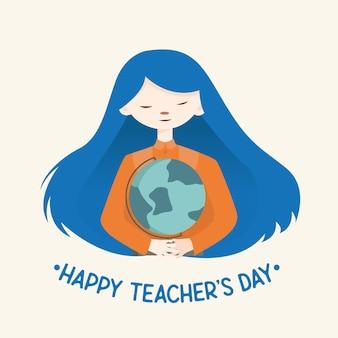 Happy teacher day flat icon