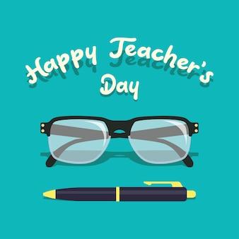 Happy teacher's day concept