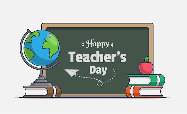 Happy teacher's day illustration icon
