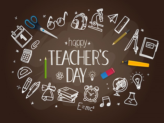 Happy teachers day concept