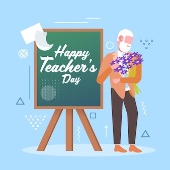 Happy teachers day holiday celebration