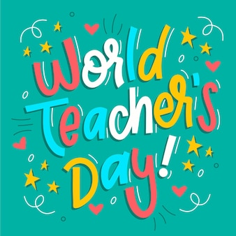 Happy teachers' day lettering