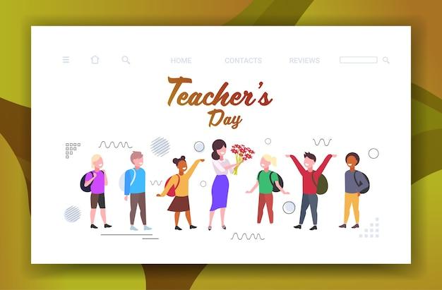 Happy teachers day world holiday celebration