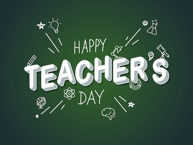 Happy teachers day.