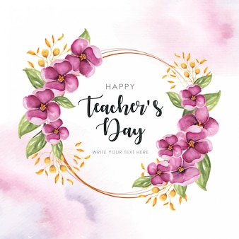 Happy teachers frame