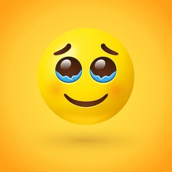 행복한 눈물 이모티콘