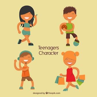 Счастливые символов tennager
