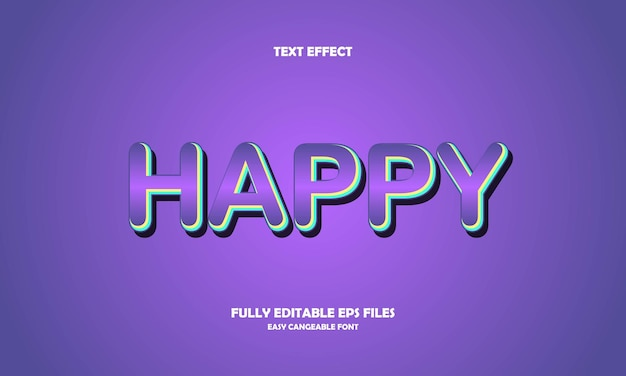 Happy text effect