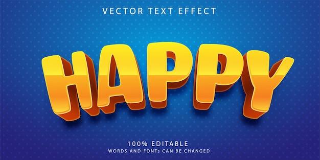 Шаблон стиля счастливых текстовых эффектов