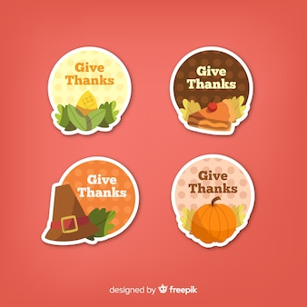 Happy thanksgiving badge collection