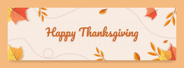 Happy thanksgiving banner free vector
