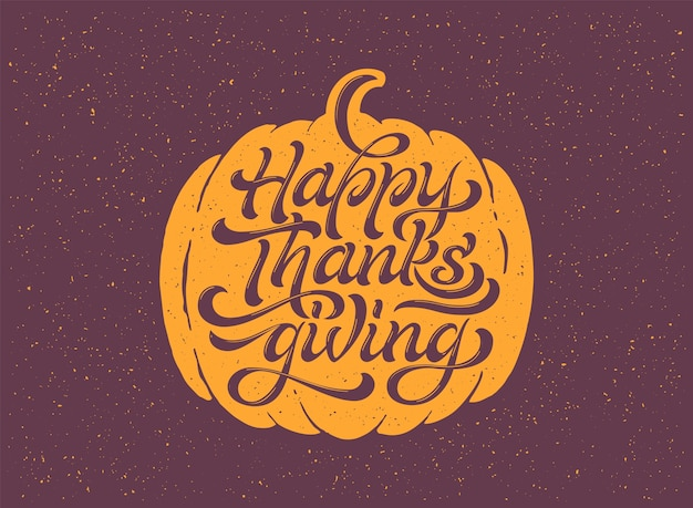 Happy thanksgiving beautiful lettering