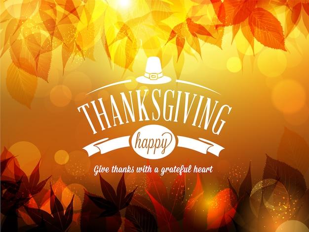 Happy thanksgiving blurred background