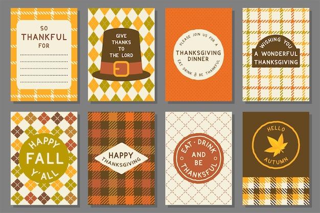 幸せな感謝のカードのテンプレート