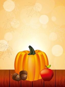 Happy thanksgiving celebration background