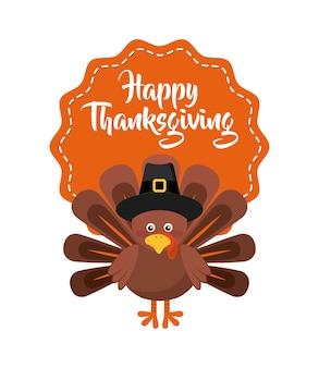 Happy thanksgiving celebration poster