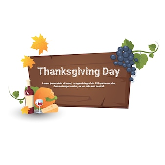 Happy thanksgiving day autumn traditional harvest banner