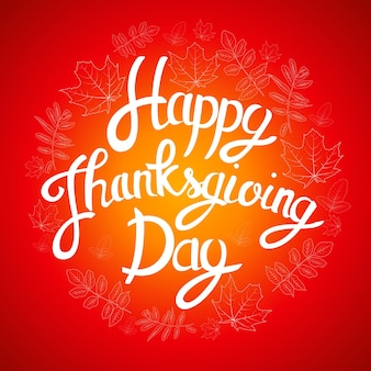 Счастливый день благодарения фон с блестящими осенними естественными листьями. векторная иллюстрация eps10