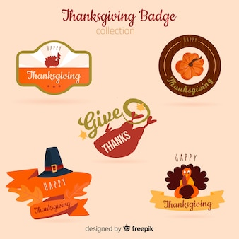 Happy thanksgiving day badge collection