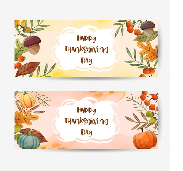 행복 한 추수 감사절 카드 또는 호두, 호박, 단풍 나무 잎 전단지.