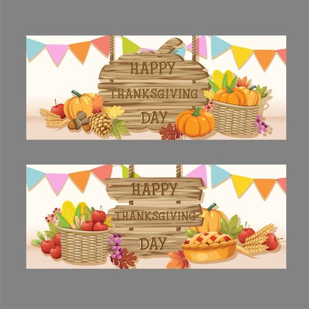 Счастливая карта дня благодарения с кленовым листом и тыквой.