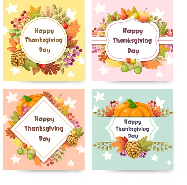 Happy thanksgiving day card con zucca