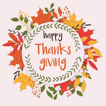 Happy thanksgiving day card