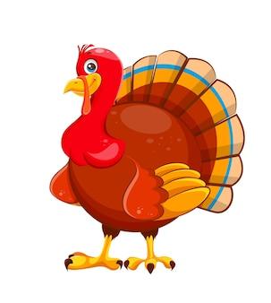 Happy thanksgiving day cartoon turkey bird usable for thanksgiving day