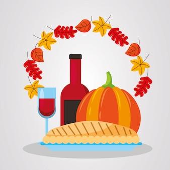 幸せな感謝祭のデザイン