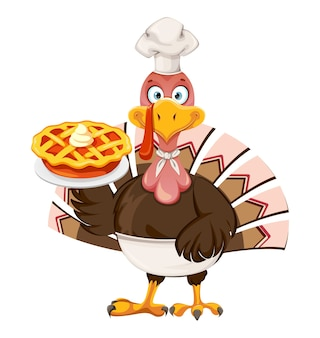 幸せな感謝祭の日。面白い感謝祭の七面鳥の鳥