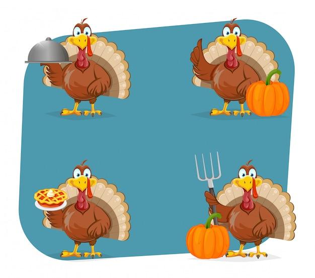 Happy thanksgiving day. funny turkey bird
